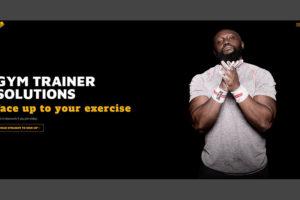 Gym and fitness sport website design