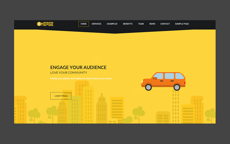 Rideshare and crowdsourced transport website design