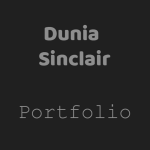 simple and basic photography and graphic design portfolio website