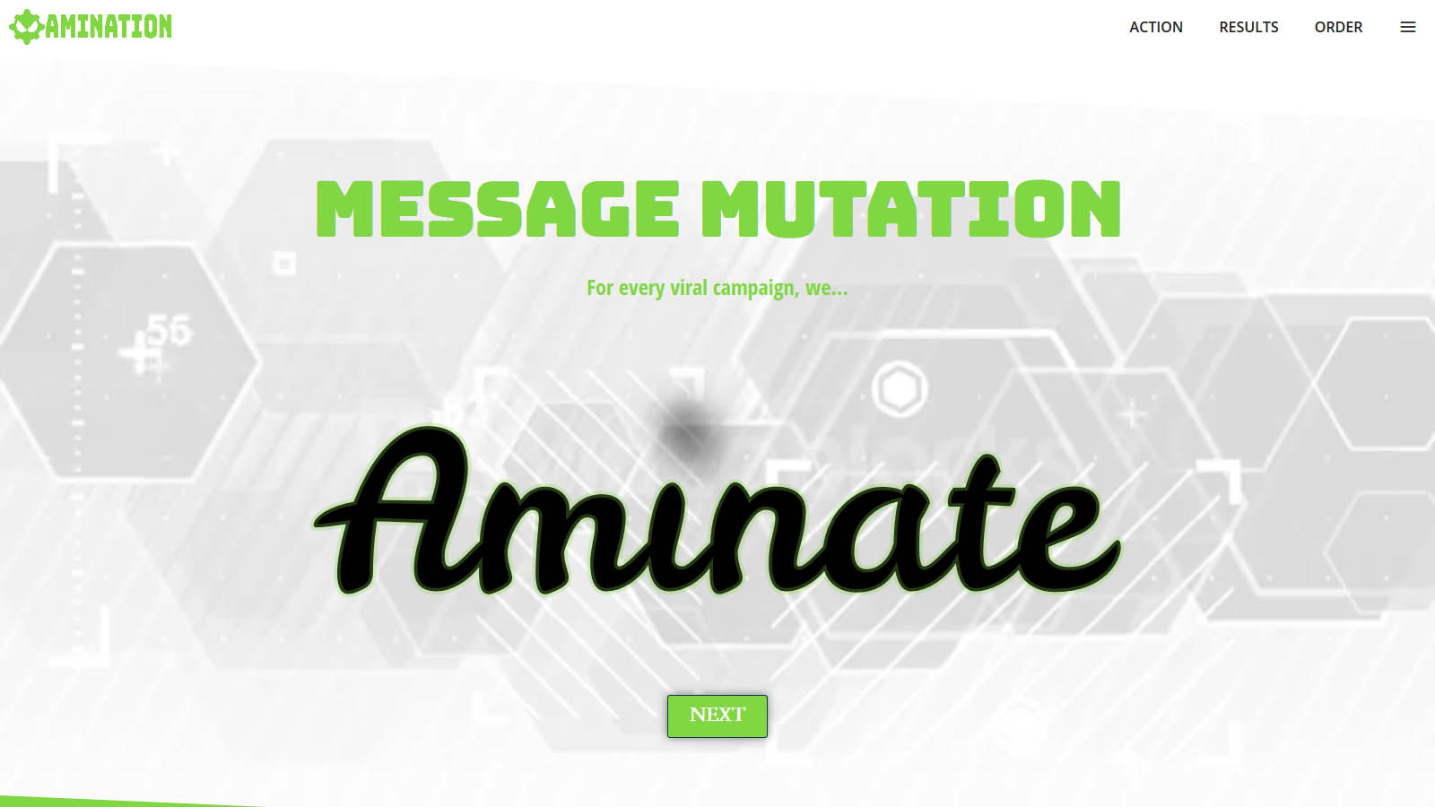 A studio offering animation services. Amination wanted to showcase css animation using svg image format.