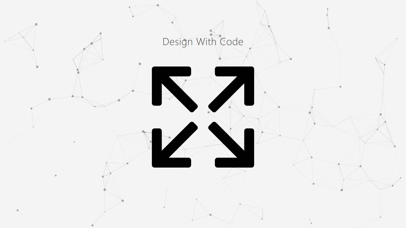 Design With Code is a one-page website with some scrolling animation.