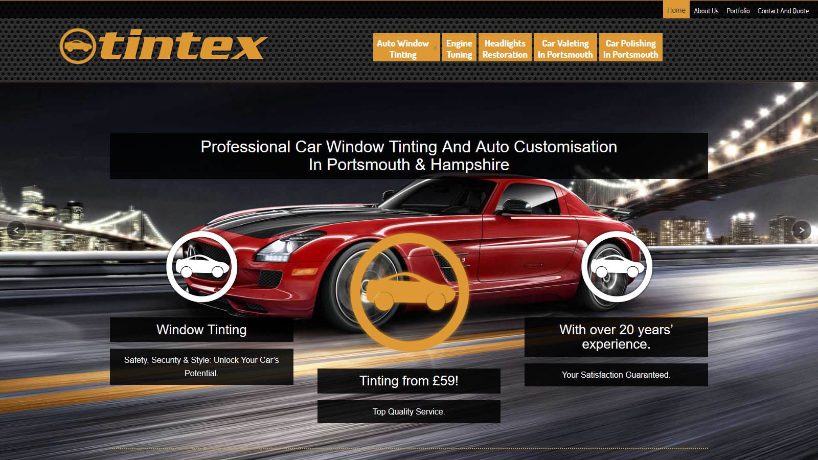 Local business car care website