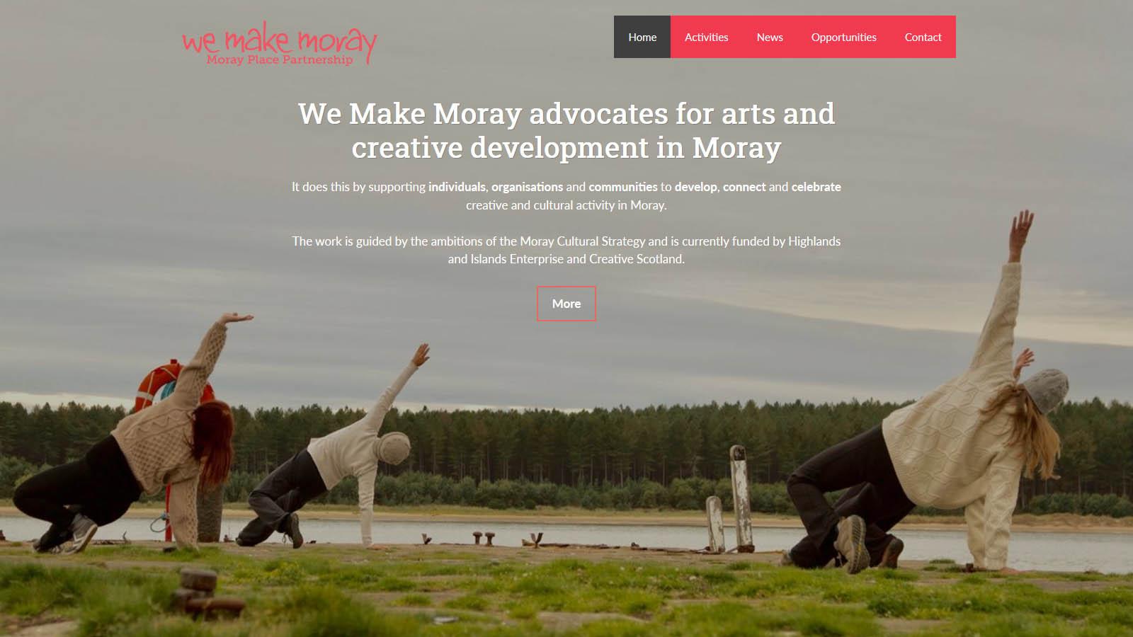 We Make Moray Frontpage Screenshot