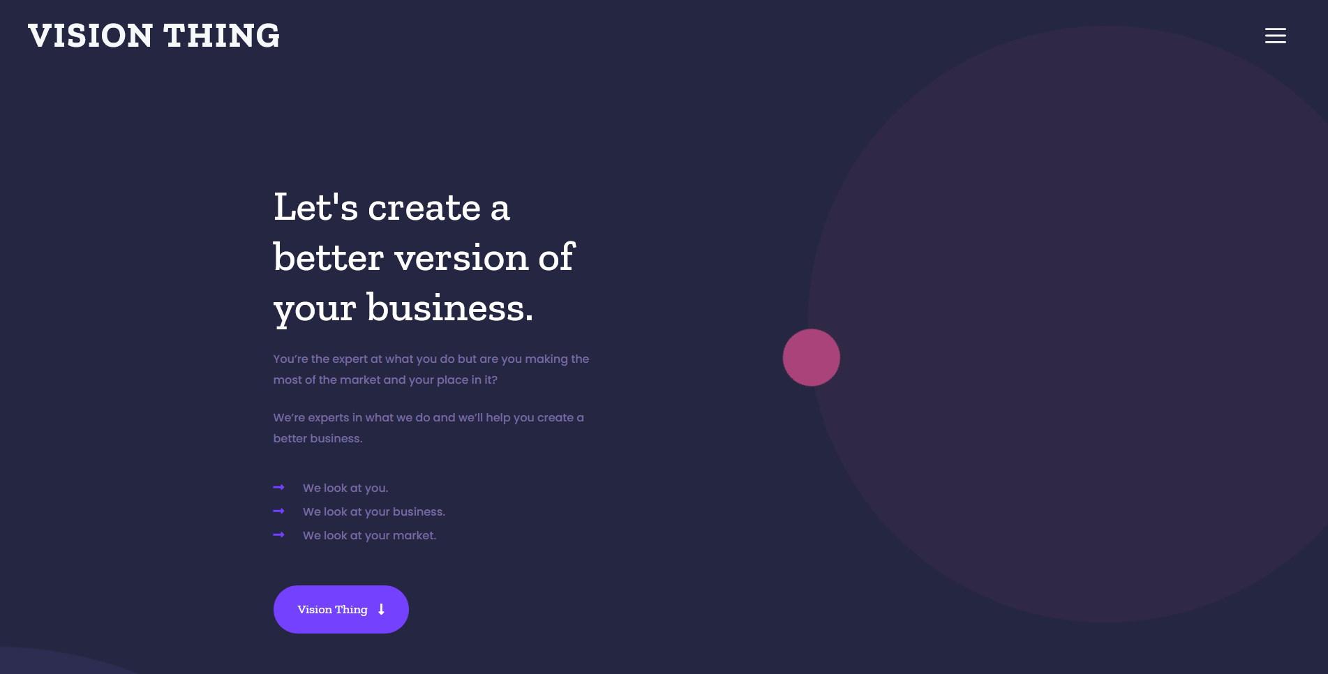 Vision Thing Business Consultancy Website Design